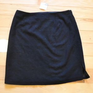 Hanna andersson little black skirt 12 wool blend